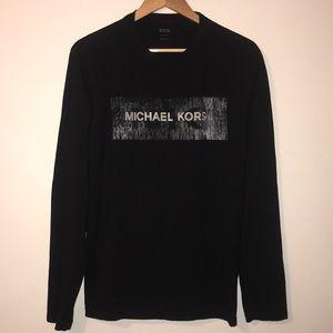 Michael Kors Long-Sleeved Graphic Tee